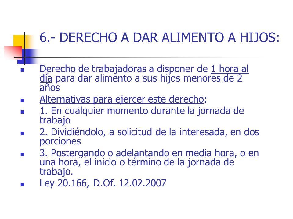 6.- DERECHO A DAR ALIMENTO A HIJOS: