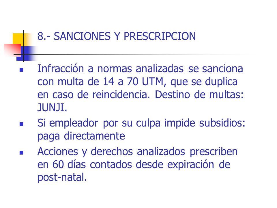 8.- SANCIONES Y PRESCRIPCION