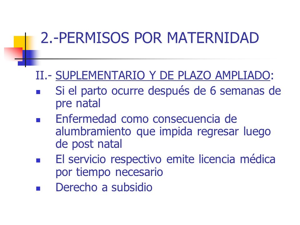 2.-PERMISOS POR MATERNIDAD