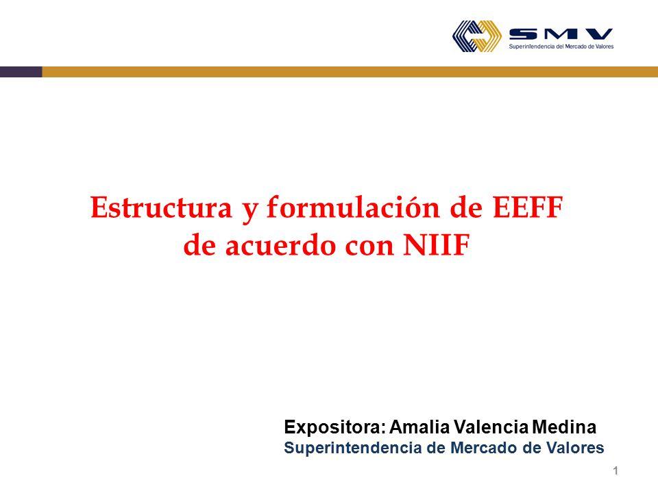 Estructura y formulación de EEFF