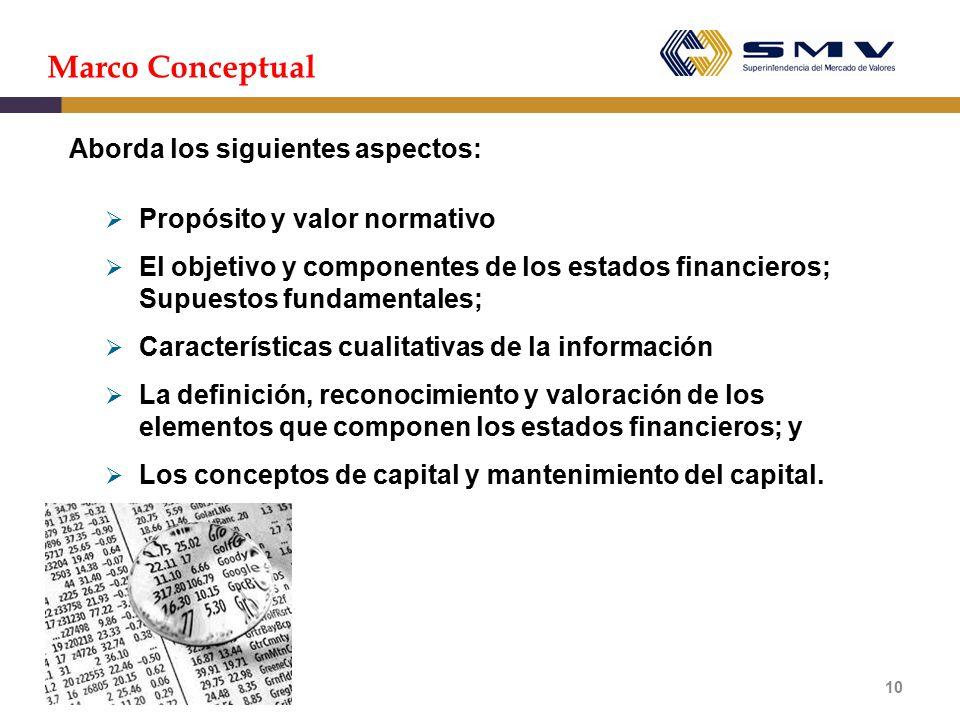 Marco Conceptual Aborda los siguientes aspectos: