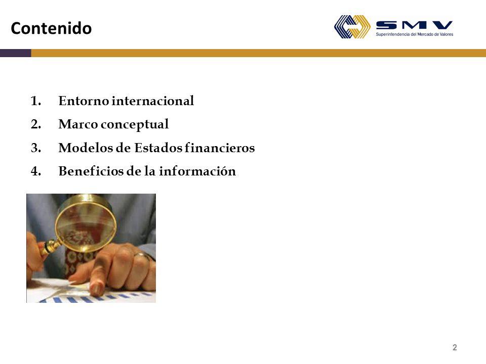 Contenido 1. Entorno internacional Marco conceptual