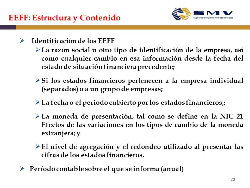 EEFF: Estructura y Contenido