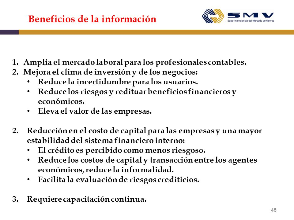 Beneficios de la información