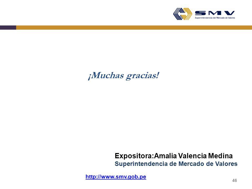 ¡Muchas gracias! Expositora:Amalia Valencia Medina