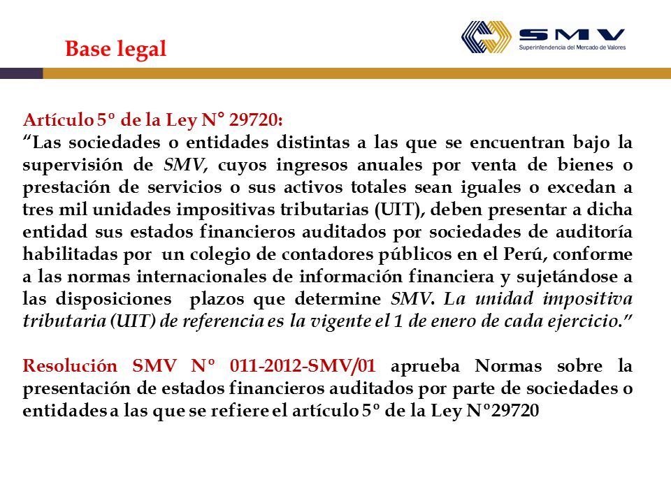 Base legal Artículo 5º de la Ley N° 29720: