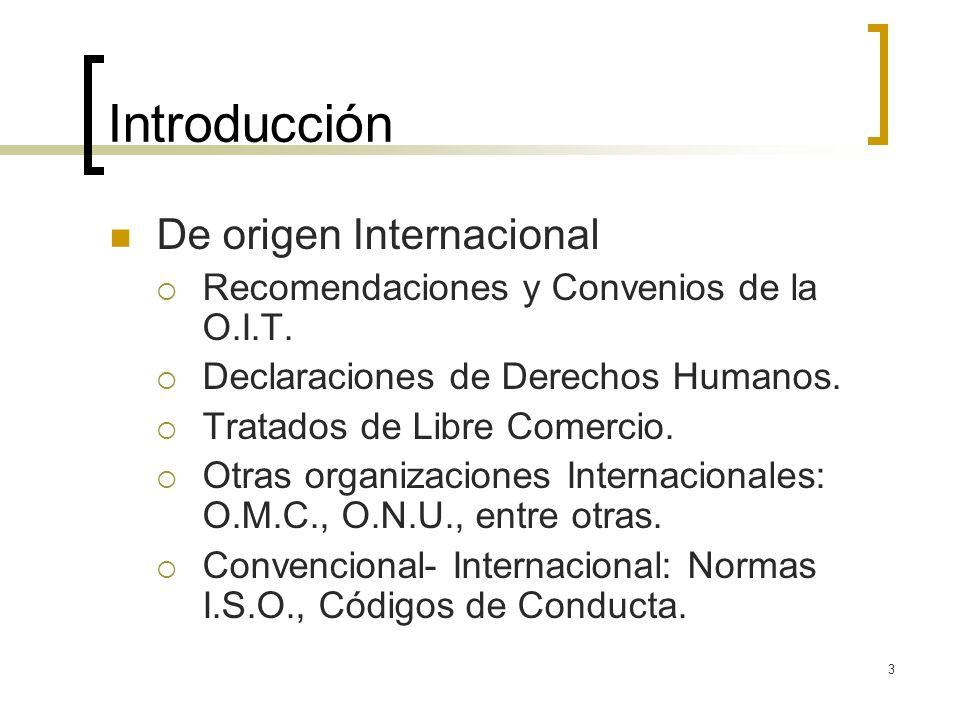 Introducción De origen Internacional