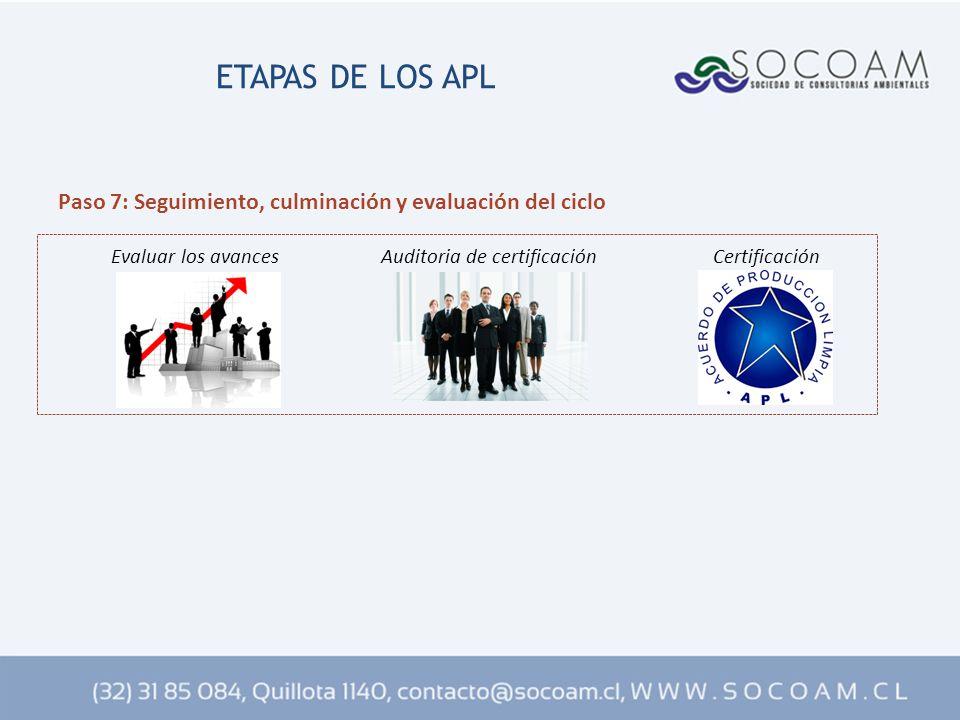 ETAPAS DE LOS APL Paso 7: Seguimiento, culminación y evaluación del ciclo.