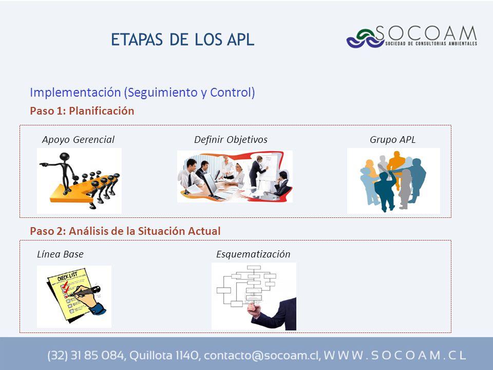 ETAPAS DE LOS APL Implementación (Seguimiento y Control)