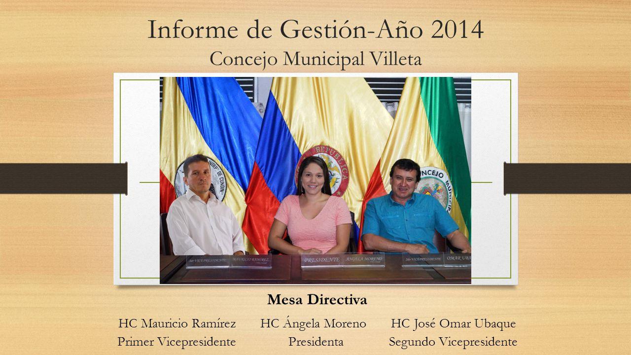Informe de Gestión-Año 2014 Concejo Municipal Villeta