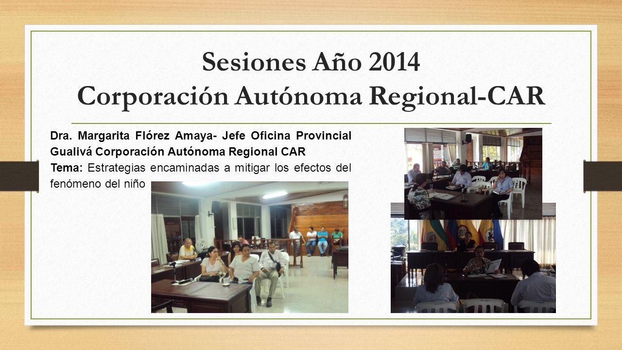 Sesiones Año 2014 Corporación Autónoma Regional-CAR