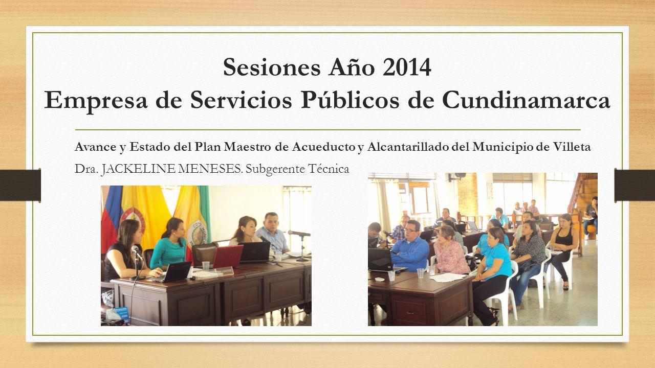 Sesiones Año 2014 Empresa de Servicios Públicos de Cundinamarca