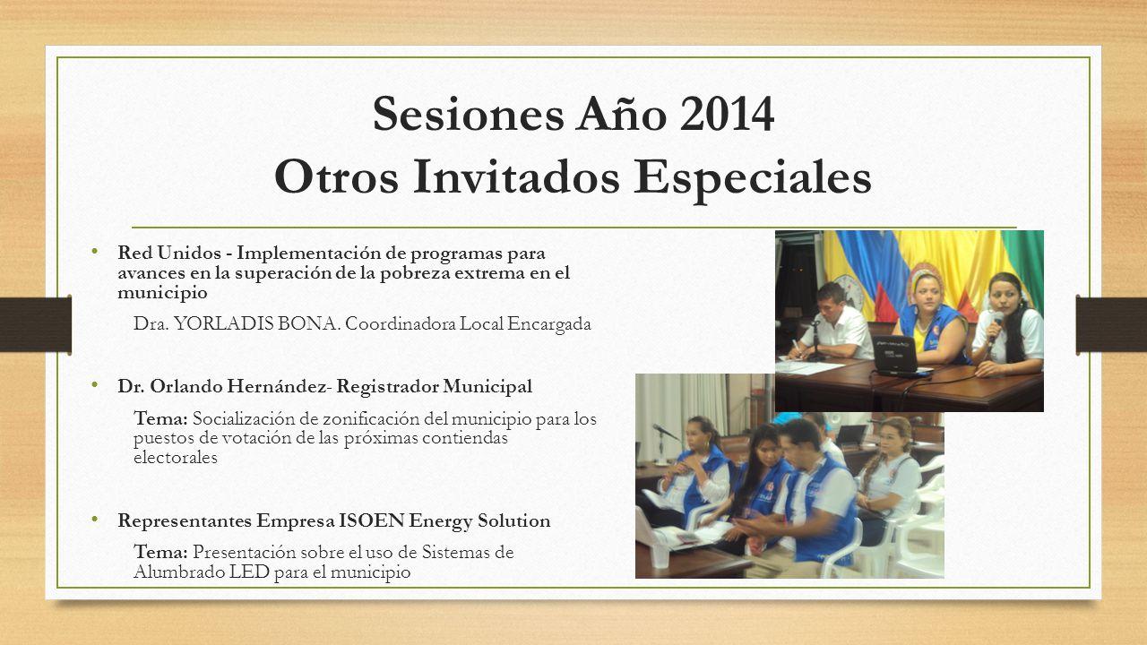 Sesiones Año 2014 Otros Invitados Especiales