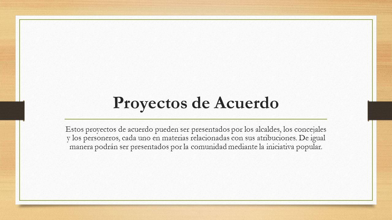 Proyectos de Acuerdo
