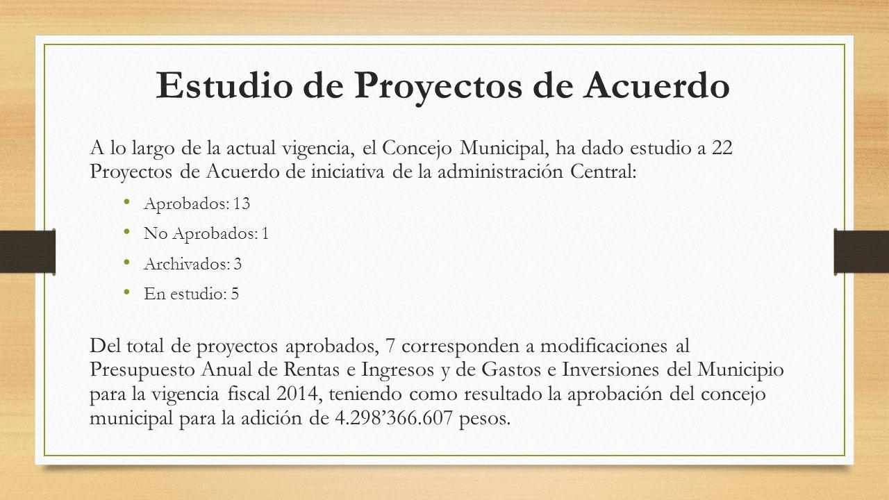 Estudio de Proyectos de Acuerdo