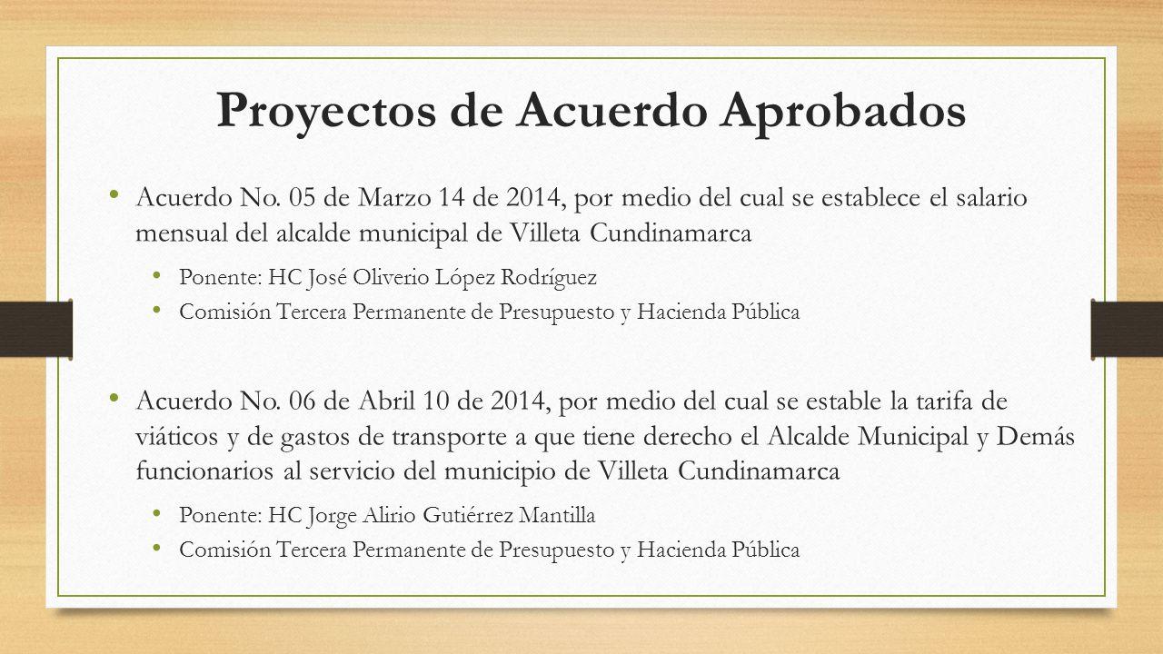 Proyectos de Acuerdo Aprobados