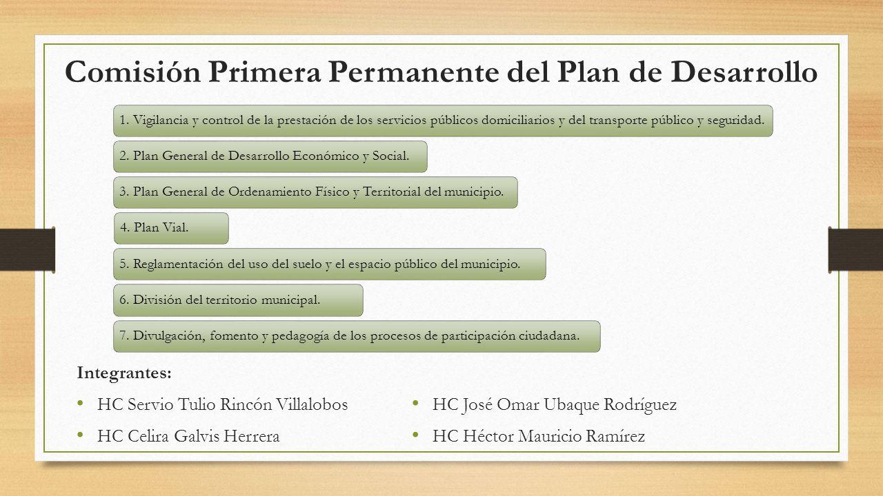 Comisión Primera Permanente del Plan de Desarrollo