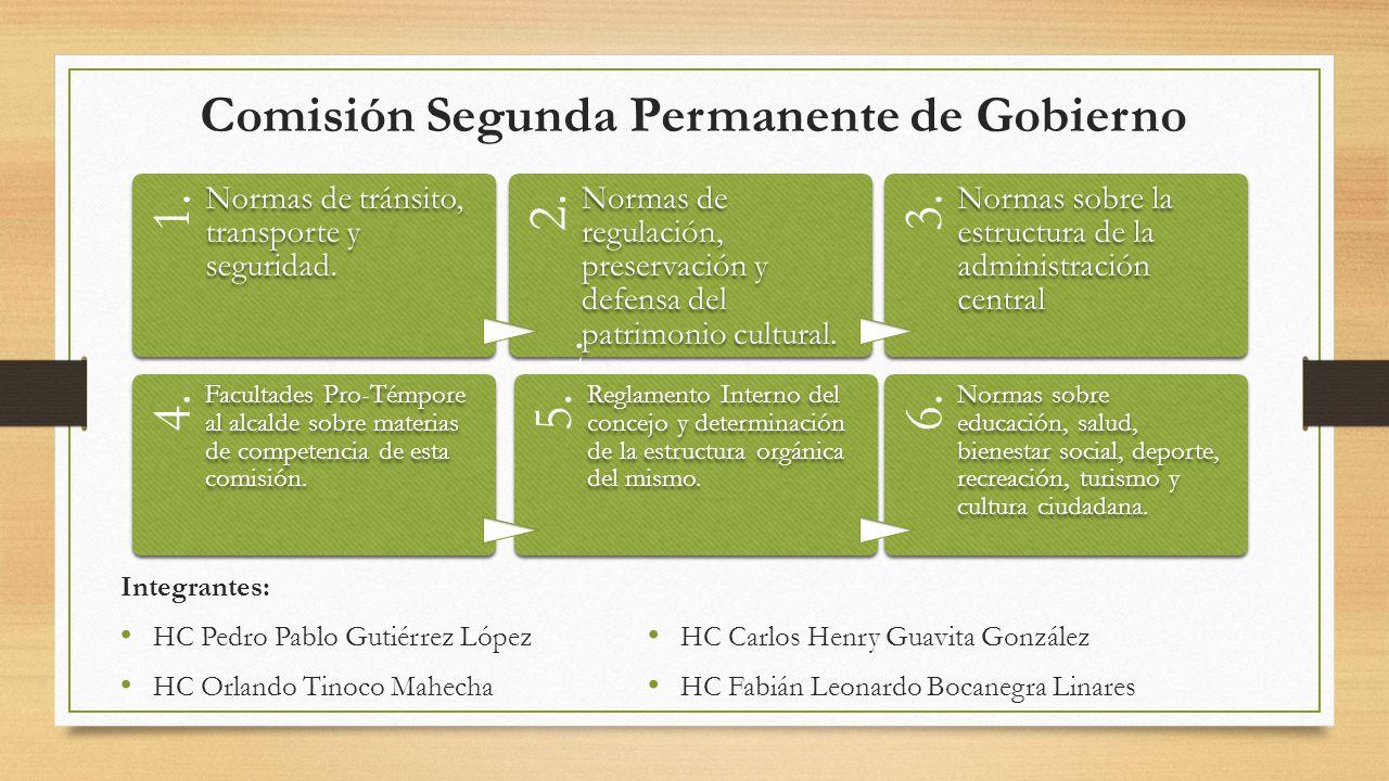 Comisión Segunda Permanente de Gobierno