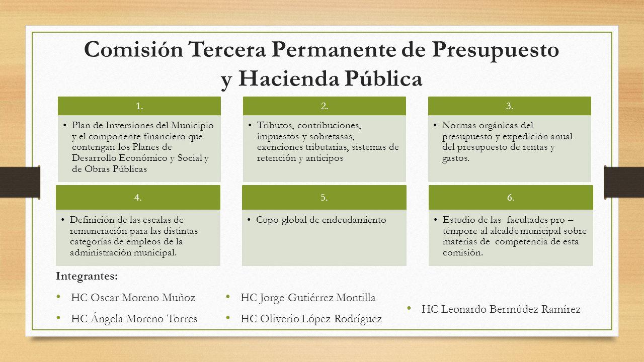 Comisión Tercera Permanente de Presupuesto y Hacienda Pública