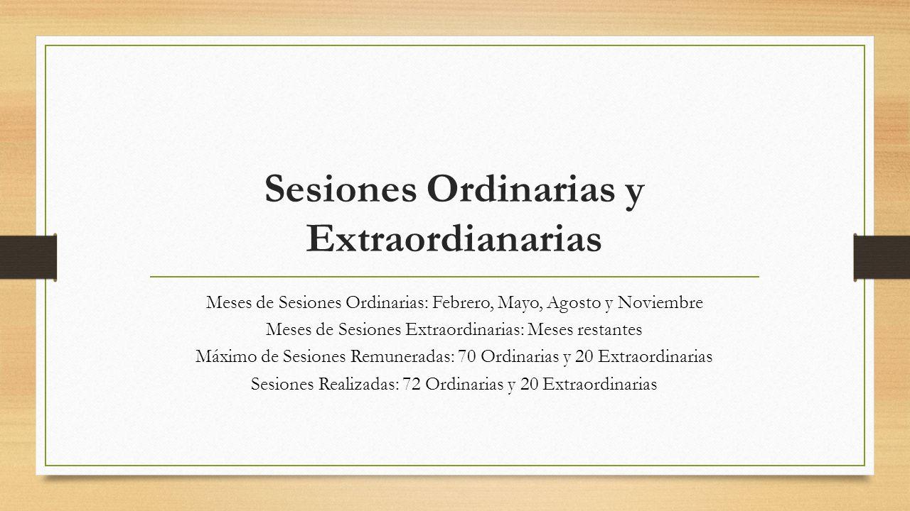 Sesiones Ordinarias y Extraordianarias