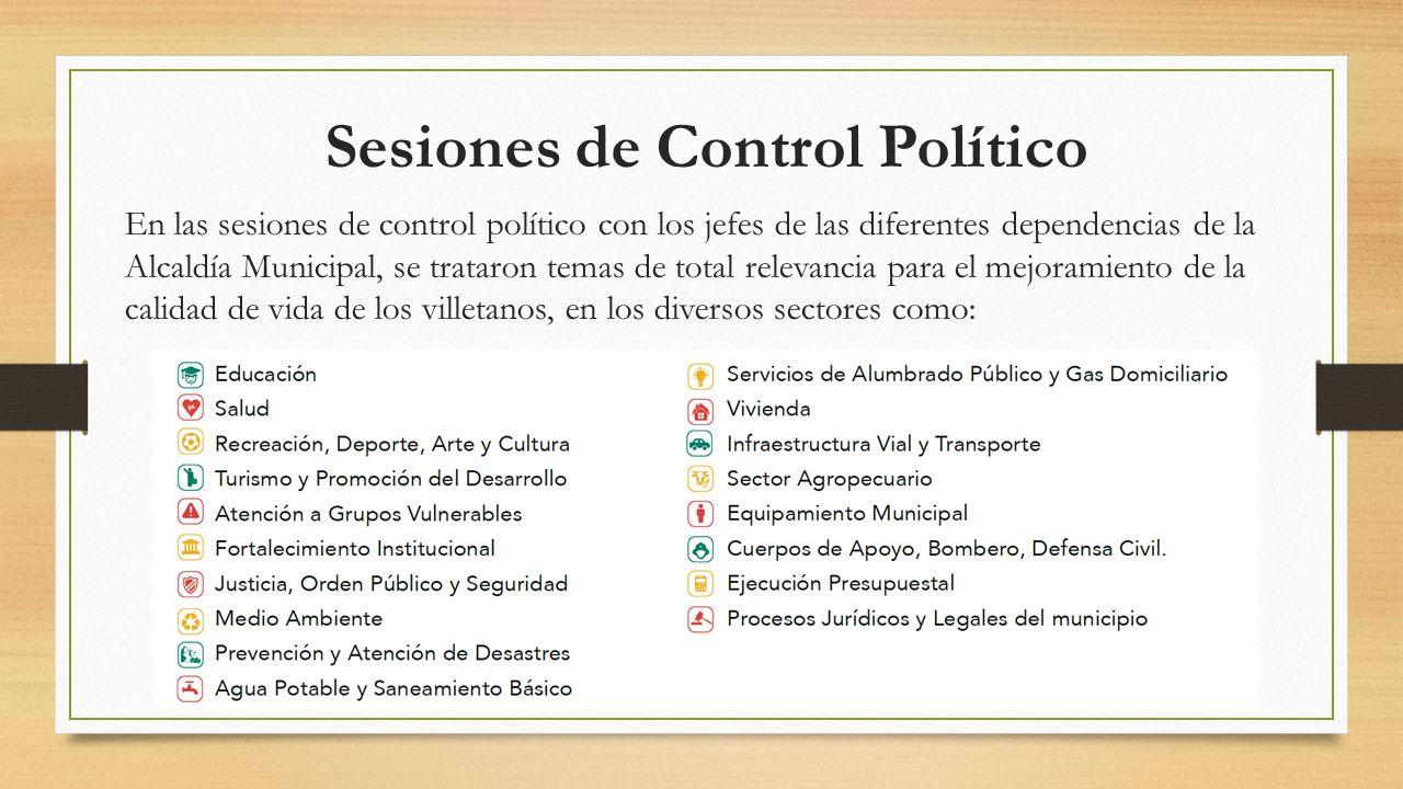 Sesiones de Control Político