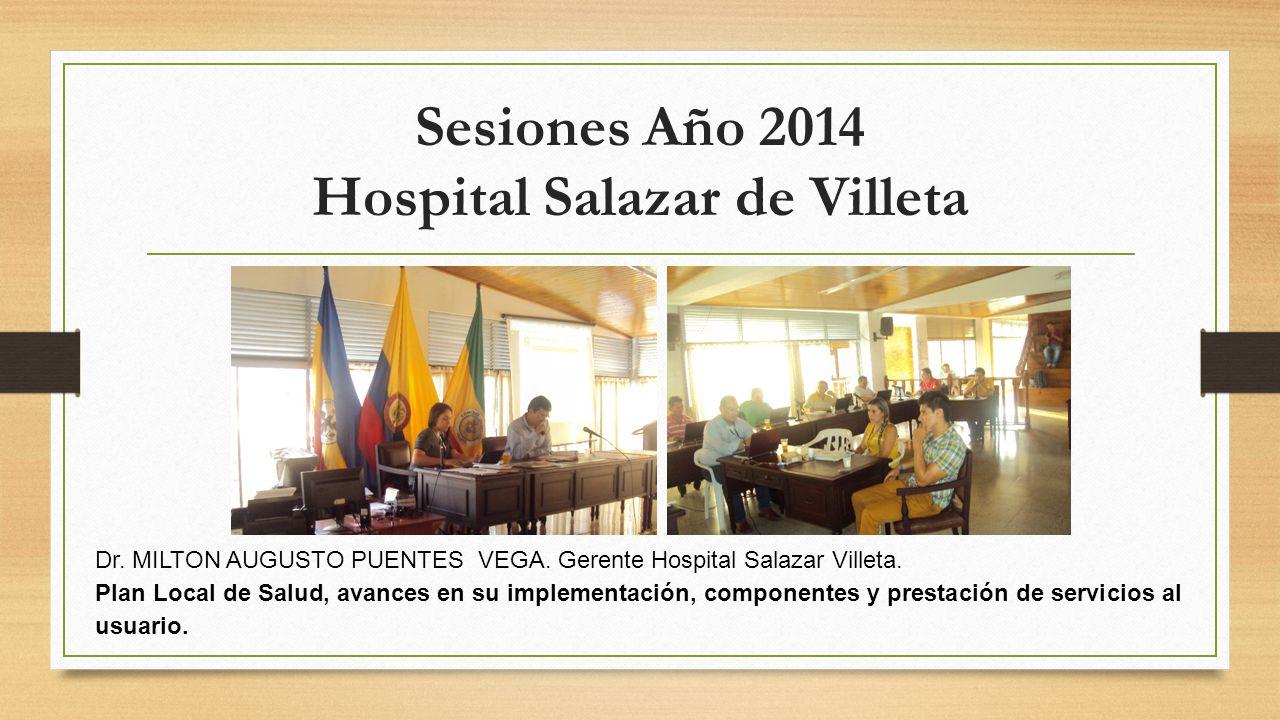 Sesiones Año 2014 Hospital Salazar de Villeta