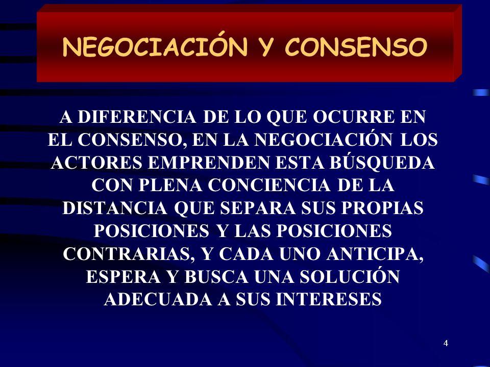 NEGOCIACIÓN Y CONSENSO