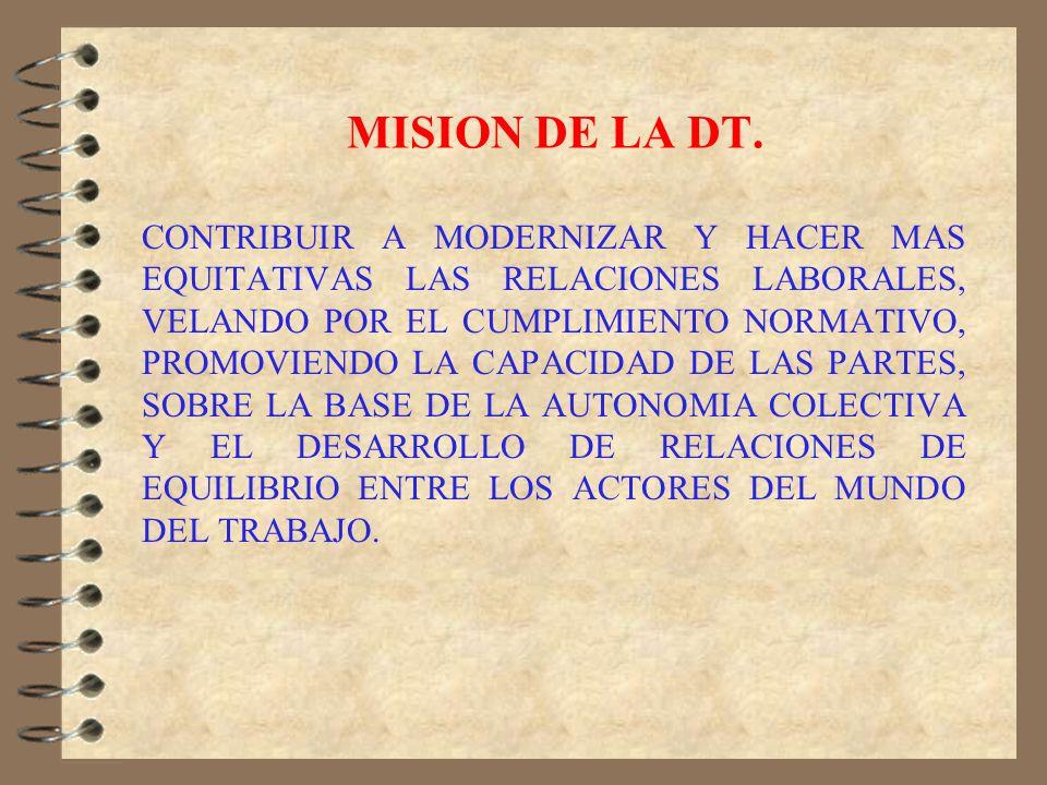 MISION DE LA DT.