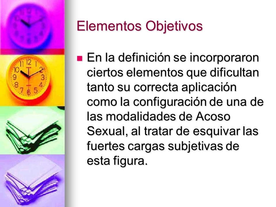 Elementos Objetivos