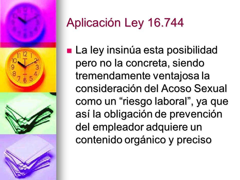 Aplicación Ley 16.744