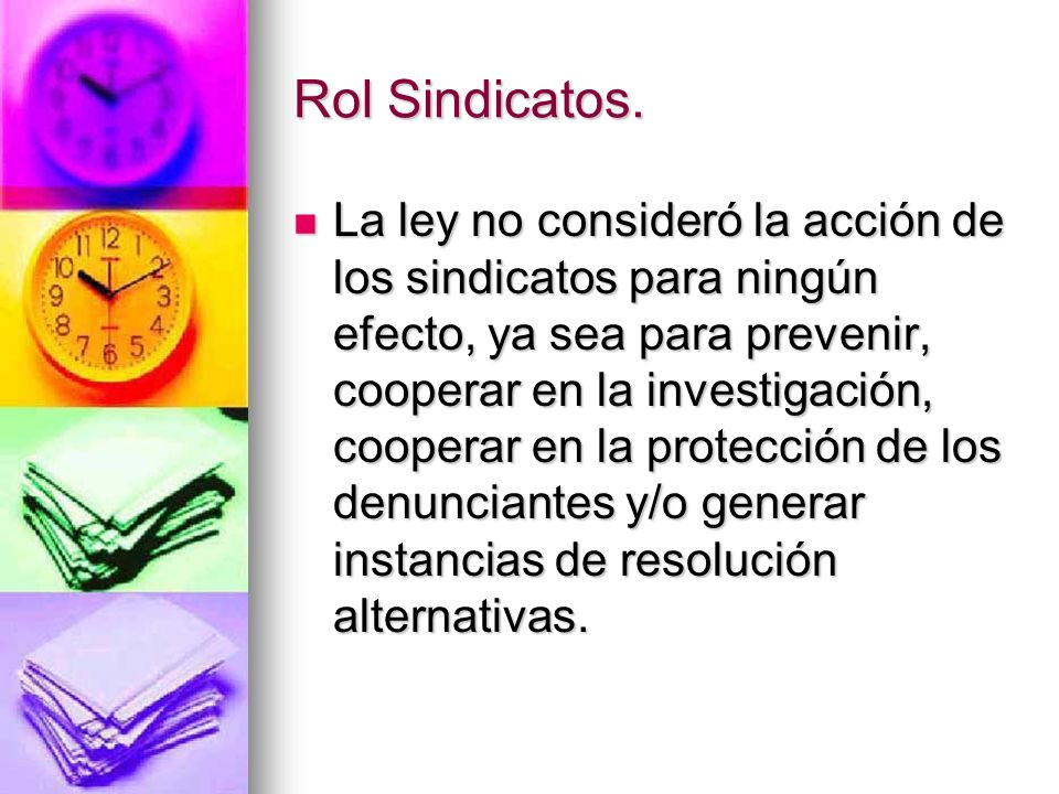 Rol Sindicatos.