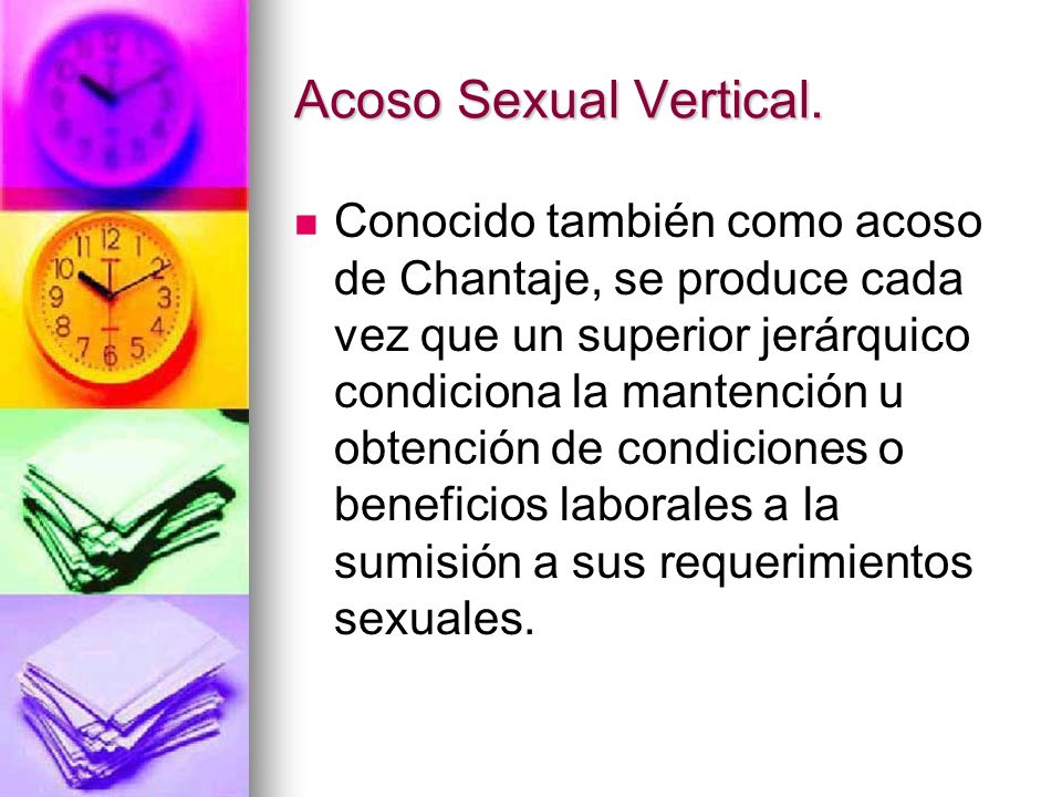 Acoso Sexual Vertical.
