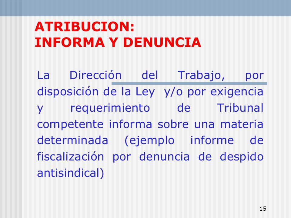 ATRIBUCION: INFORMA Y DENUNCIA