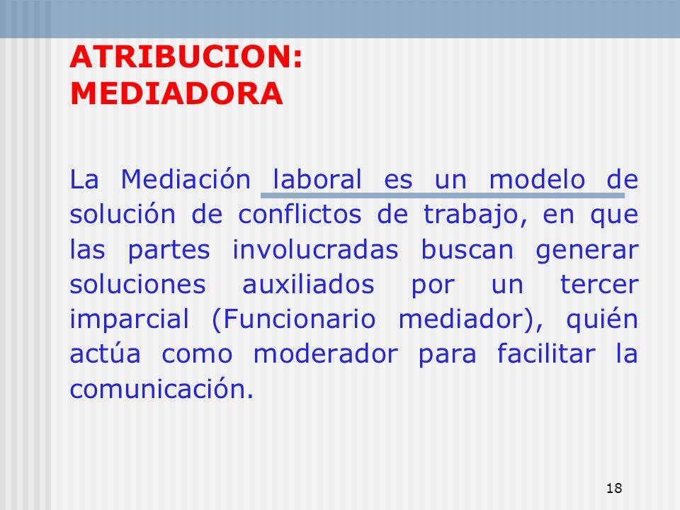 ATRIBUCION: MEDIADORA