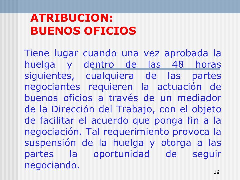 ATRIBUCION: BUENOS OFICIOS
