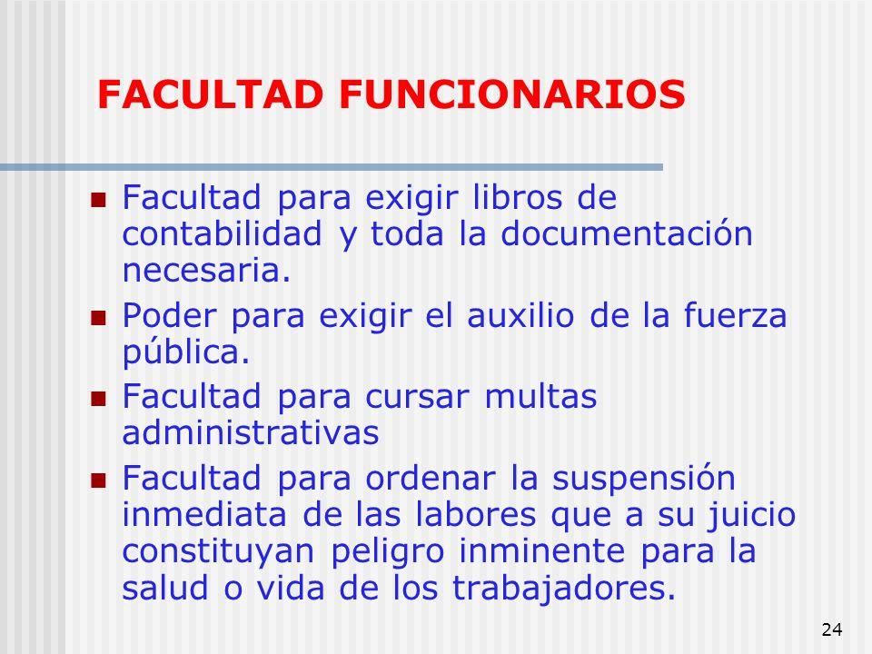 FACULTAD FUNCIONARIOS