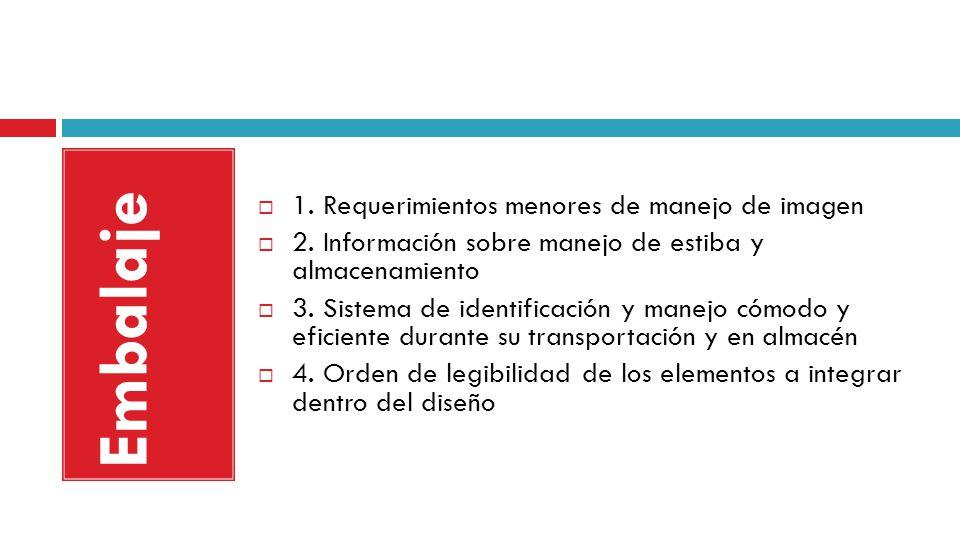Embalaje 1. Requerimientos menores de manejo de imagen