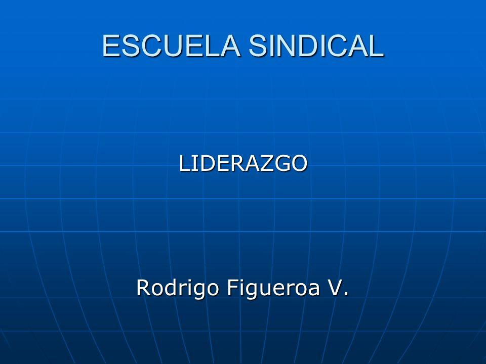 ESCUELA SINDICAL LIDERAZGO Rodrigo Figueroa V.