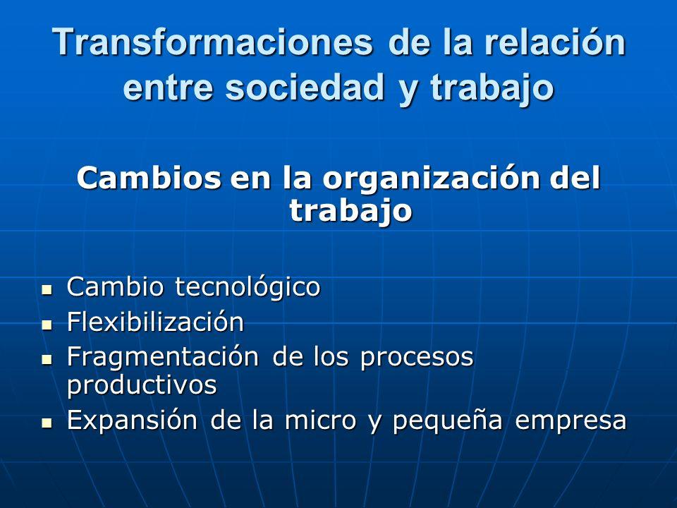 Transformaciones de la relación entre sociedad y trabajo