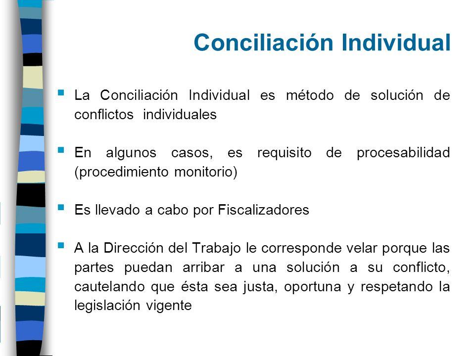 Conciliación Individual