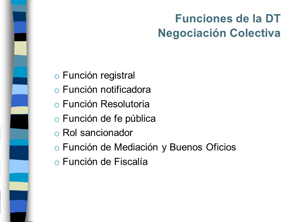 Funciones de la DT Negociación Colectiva