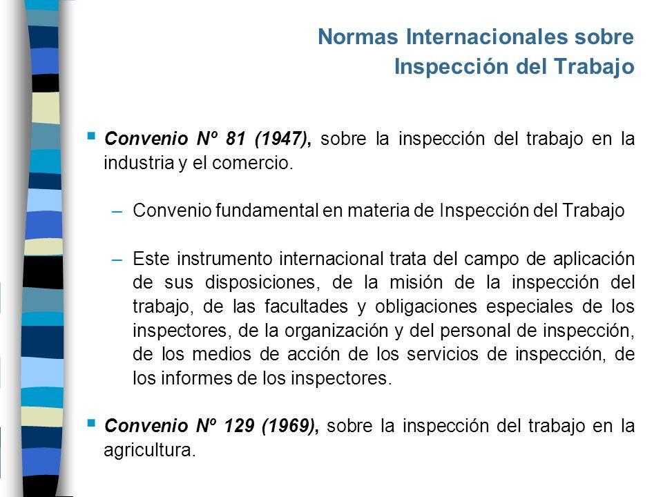 Normas Internacionales sobre Inspección del Trabajo