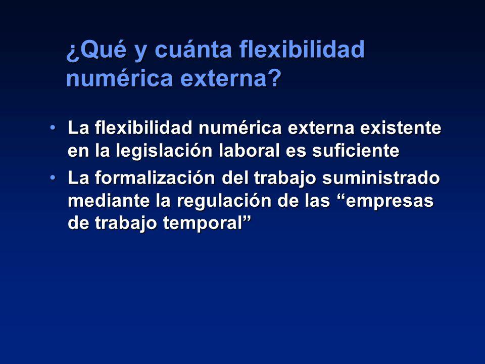 ¿Qué y cuánta flexibilidad numérica externa