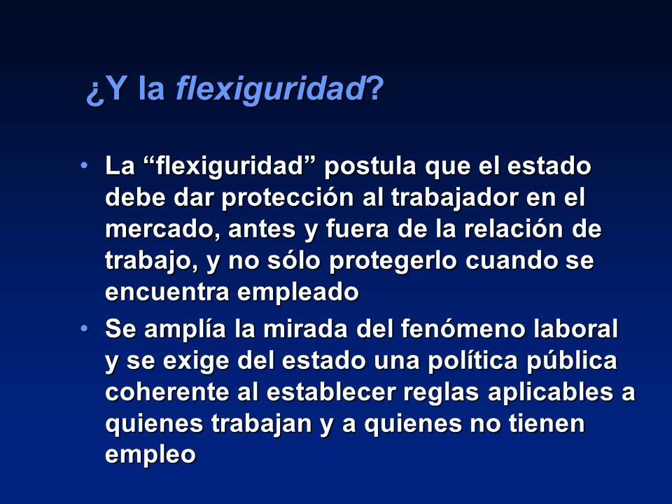 ¿Y la flexiguridad