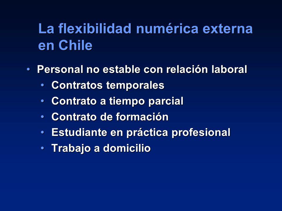 La flexibilidad numérica externa en Chile