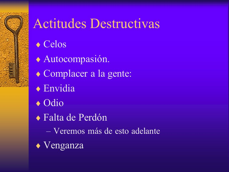 Actitudes Destructivas