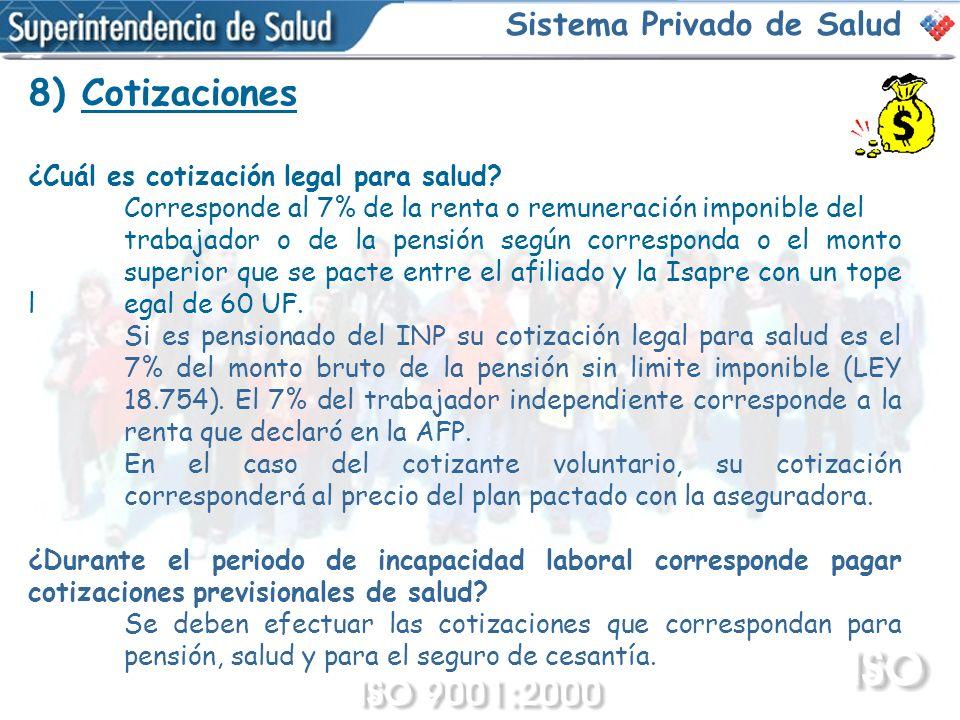8) Cotizaciones Sistema Privado de Salud