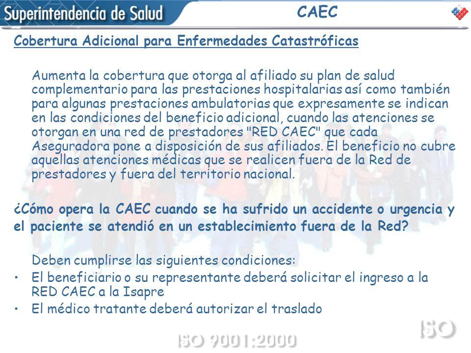 CAEC Cobertura Adicional para Enfermedades Catastróficas