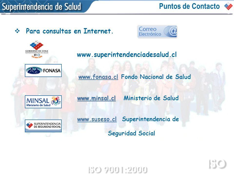 Puntos de Contacto Para consultas en Internet.