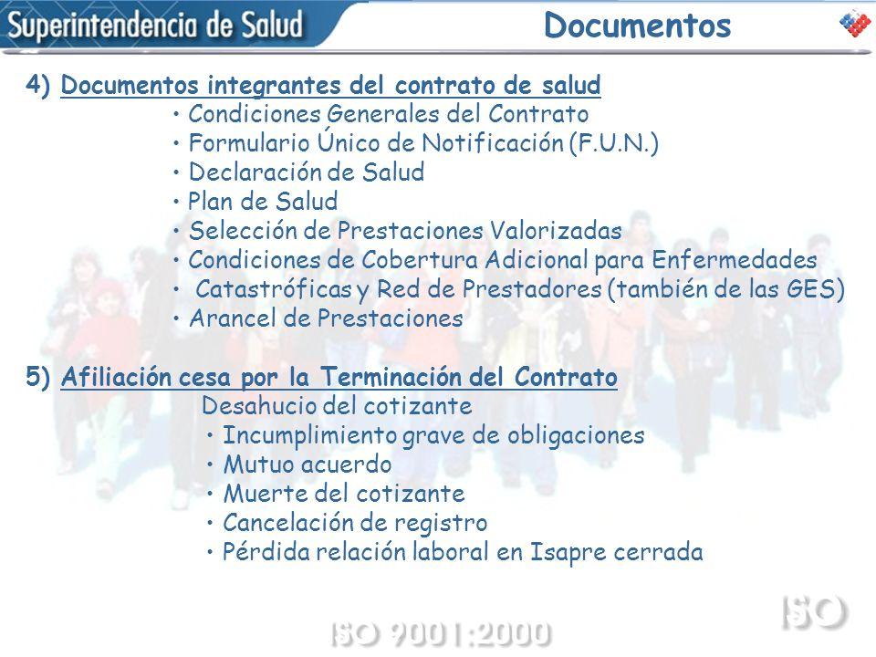 Documentos 4) Documentos integrantes del contrato de salud